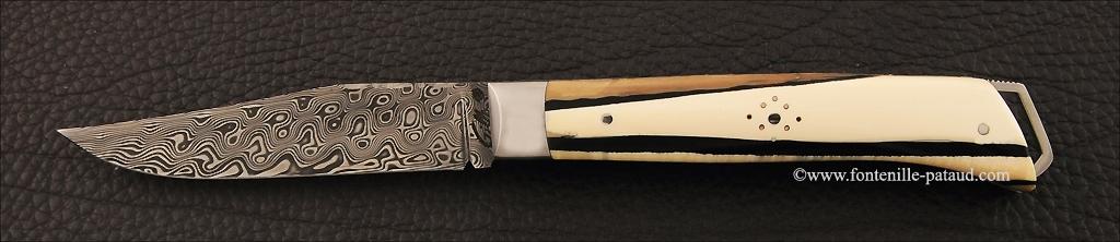 Alpin knife stabilized mammoth ivory