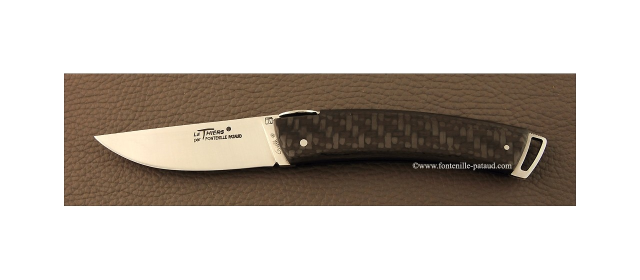 Le Thiers ® Gentleman knife carbon fiber ultra-light