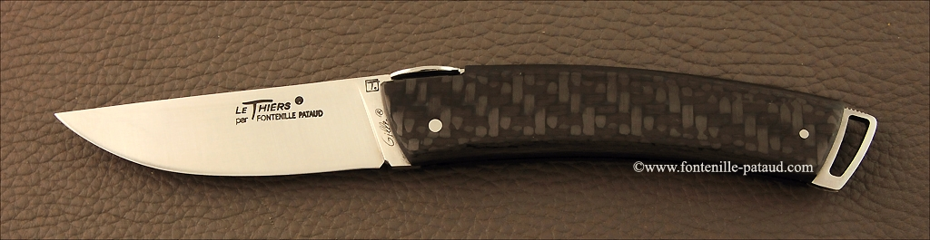 Le Thiers ® Gentleman knife carbon fiber ultra-light