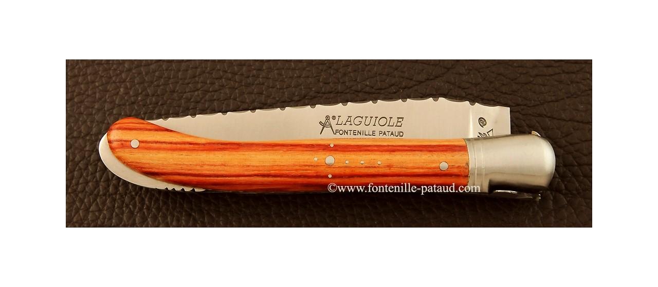 Laguiole nature knife handmade guilloché rosewood