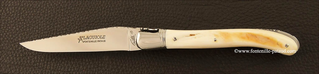 Real laguiole and warthog ivory