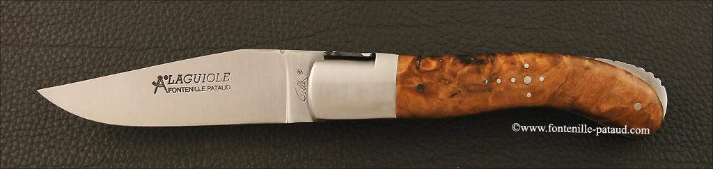 Laguiole Sport knife stabilized poplar burl