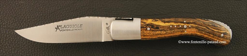 Couteau Laguiole Sport guilloché bocote du Mexique