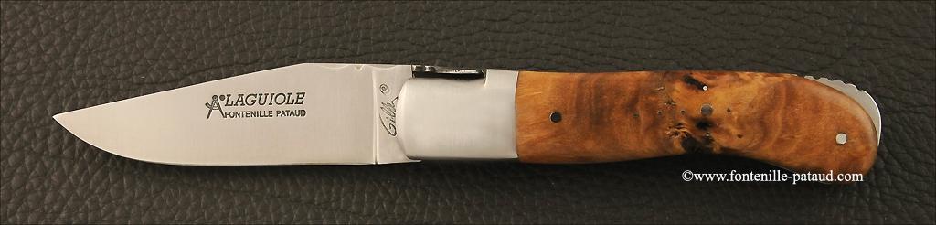 Couteau Laguiole Gentleman Classique loupe de peuplier stabilisée