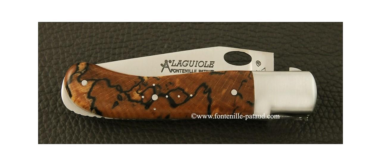 Couteau Laguiole Gentleman Une main hêtre stabilisé debout