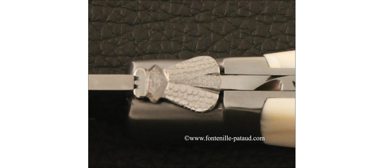 Couteau Laguiole Gentleman Une main ivoire de phacochère
