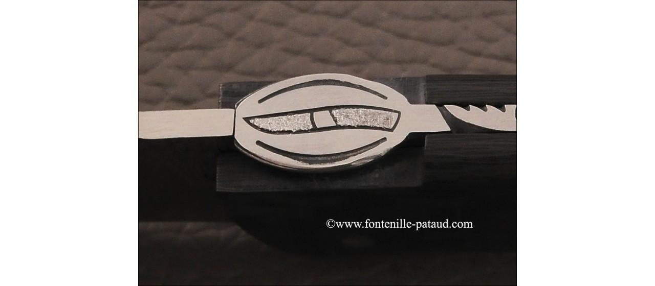 Le Thiers ® Gentleman knife Damascus Pistachio wood