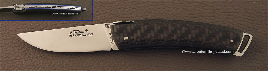 Le Thiers ® Gentleman knife carbon fiber