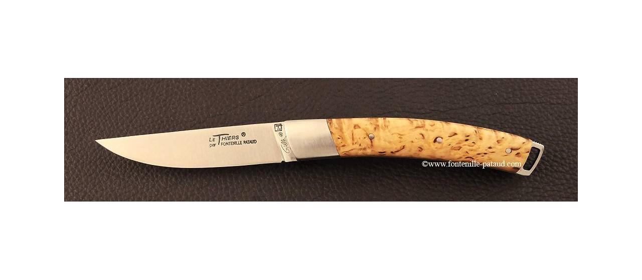 Couteau Le Thiers® Nature bouleau frisé