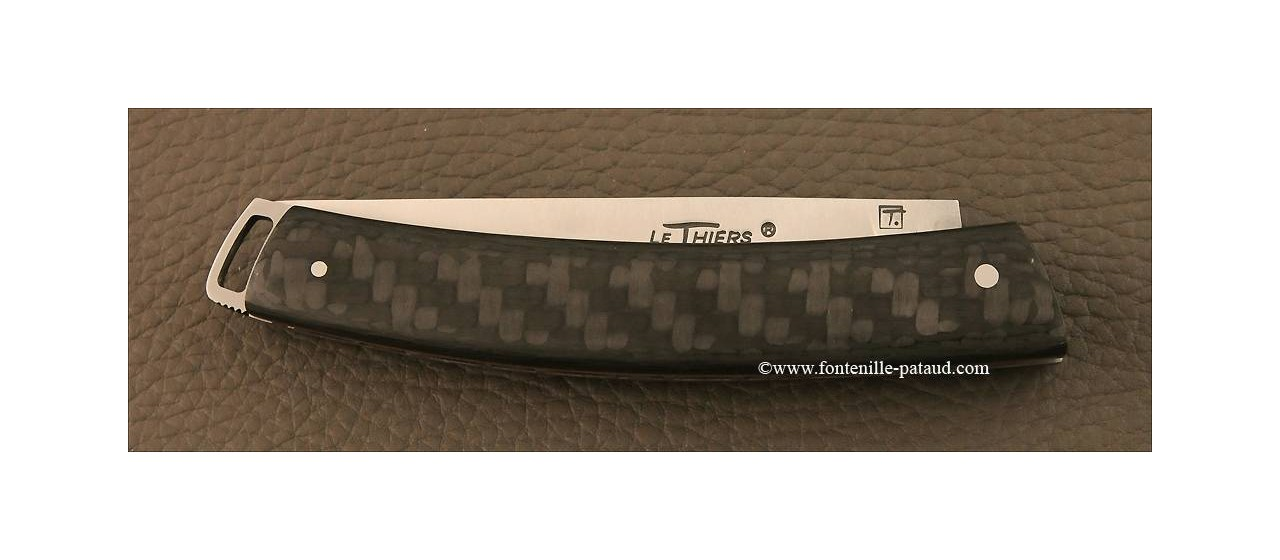 Le Thiers® Nature Carbon fiber red knife