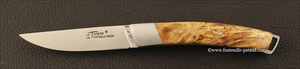 Couteau Le Thiers® Nature loupe de peuplier stabilisée