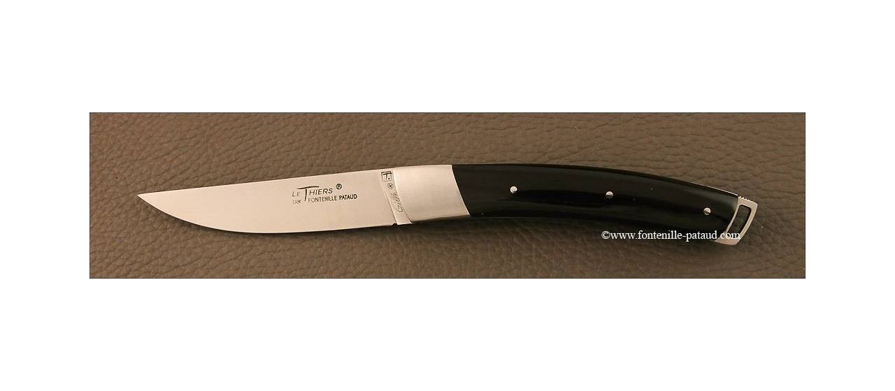 Le Thiers® Nature Buffalo black horn tip knife