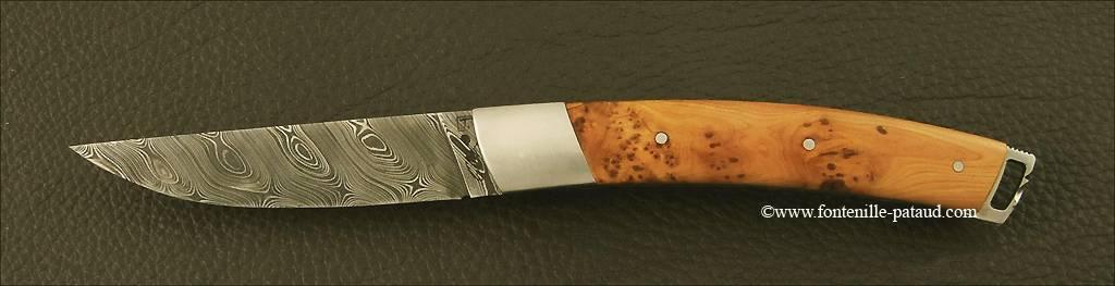 Couteau Le Thiers® Nature Damas Genévrier