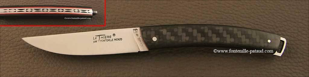 Couteau Le Thiers® Nature Fibre de carbone rouge