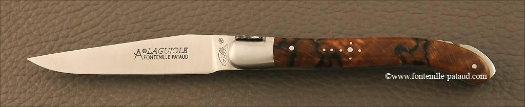 Couteau Laguiole XS Classique Hêtre stabilisé debout