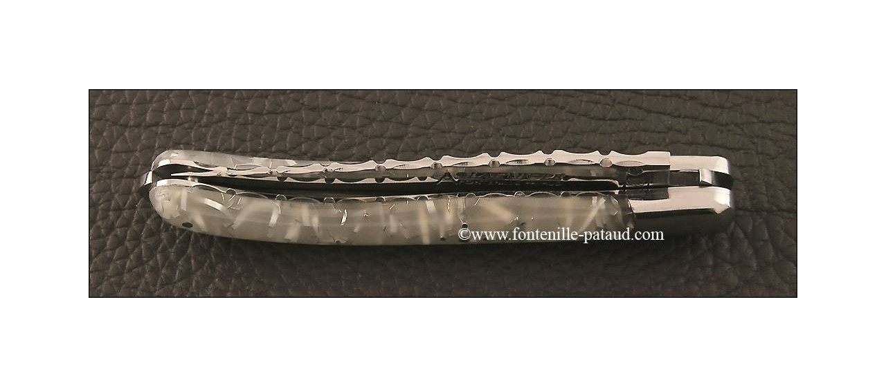 Couteau Laguiole XS Guilloche résine phosphorescente