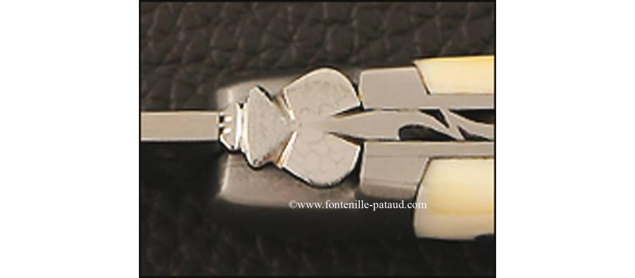 Couteau Laguiole Le Pocket en ivoire de phacochère