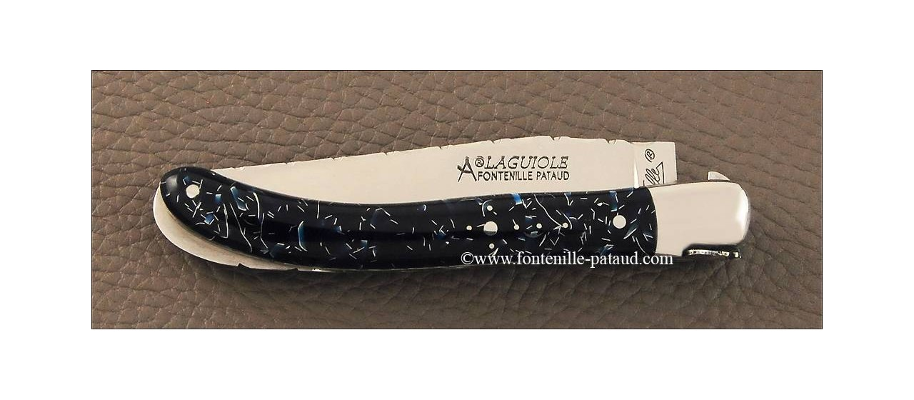 French laguiole knife guilloché le Pocket thermochromic resin