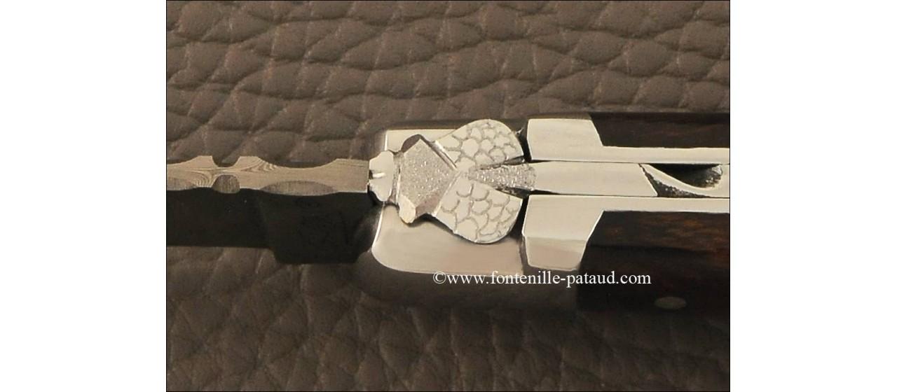 Couteau laguiole le pocket damas bois de fer