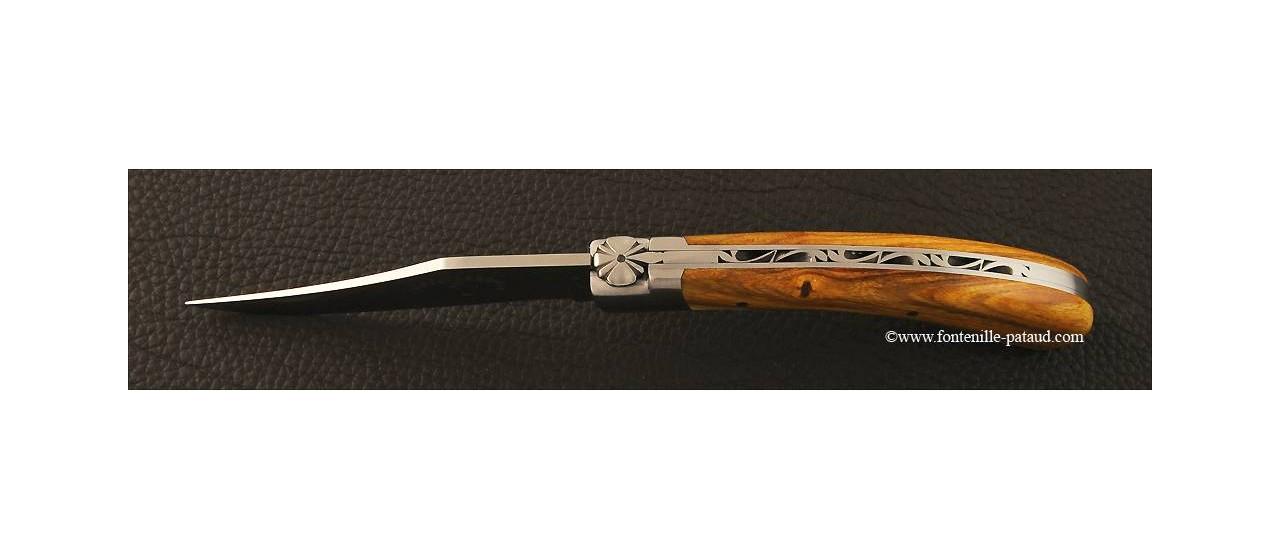 """""""Le Capuchadou"""" 12 cm hand made knife, pistachio"""