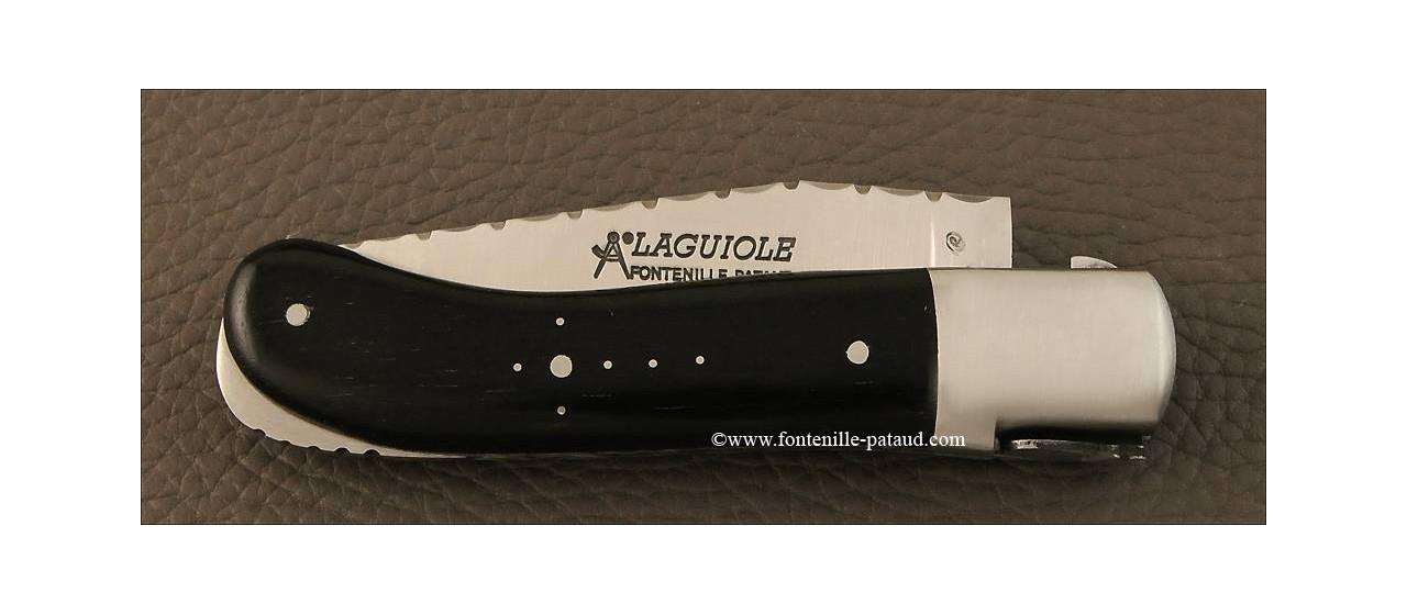 couteau laguiole gentleman guilloché ébène véritable