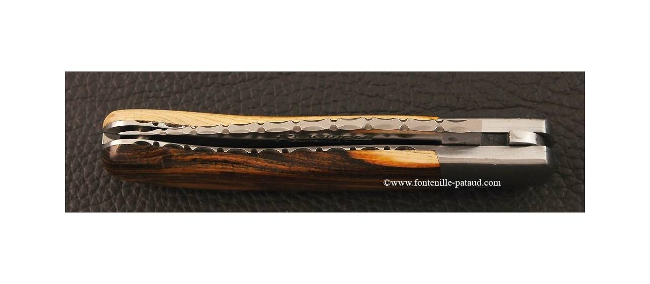 couteau laguiole gentleman guilloché pistachier