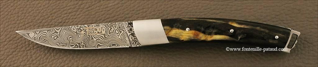 Couteau Le Thiers® Nature Damas Bélier noir