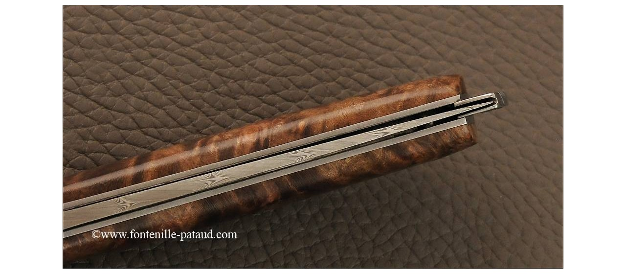 Le Thiers® Nature Damascus Stabilized maple burl