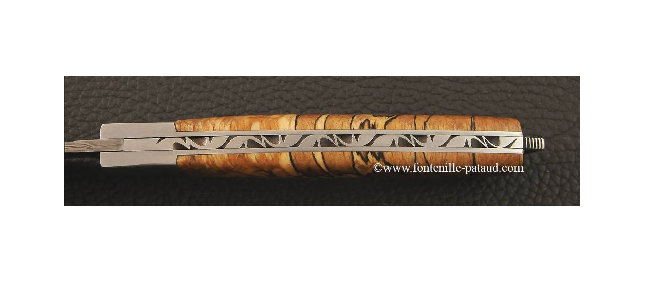 Le Thiers® Nature Damascus Stabilized beech