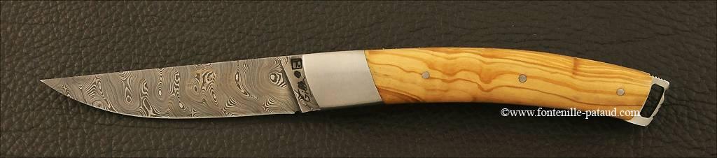 Couteau Le Thiers® Nature Damas Olivier