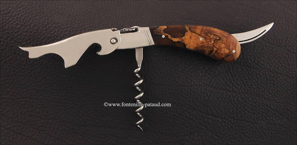 Laguiole Magnum corkscrew Stabilized beech