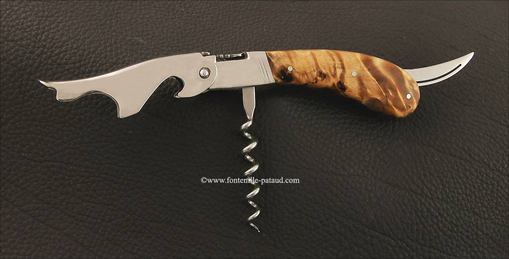 Laguiole Magnum corkscrew poplar burl