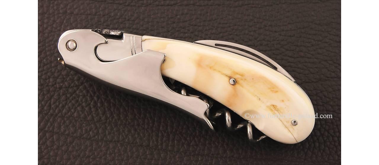 Laguiole Magnum corkscrew warthog ivory