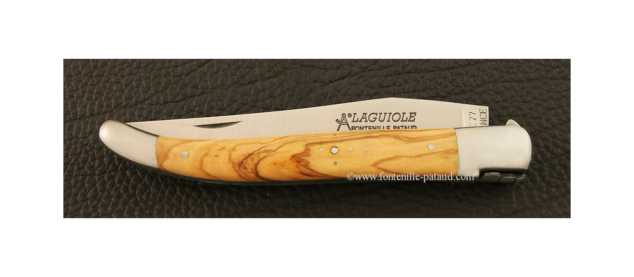 Laguiole Knife essential 12 cm Olivewood made in France