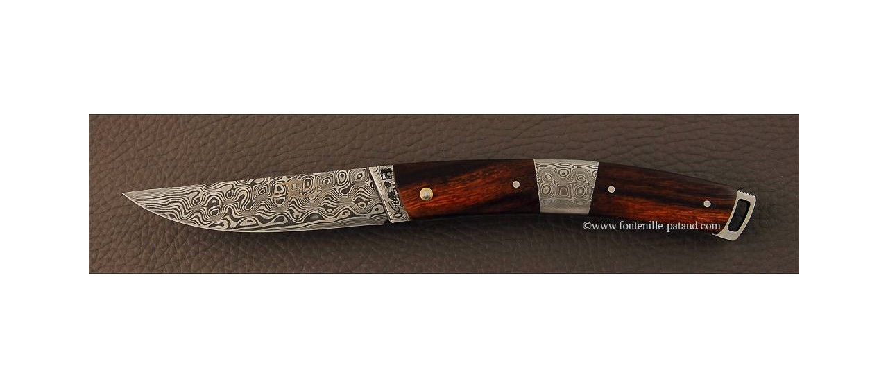 Le Thiers® Nature Damascus central bolster Arizona ironwood