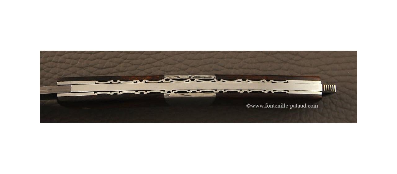 Couteau Le Thiers® Nature Damas mitre centrale bois de fer