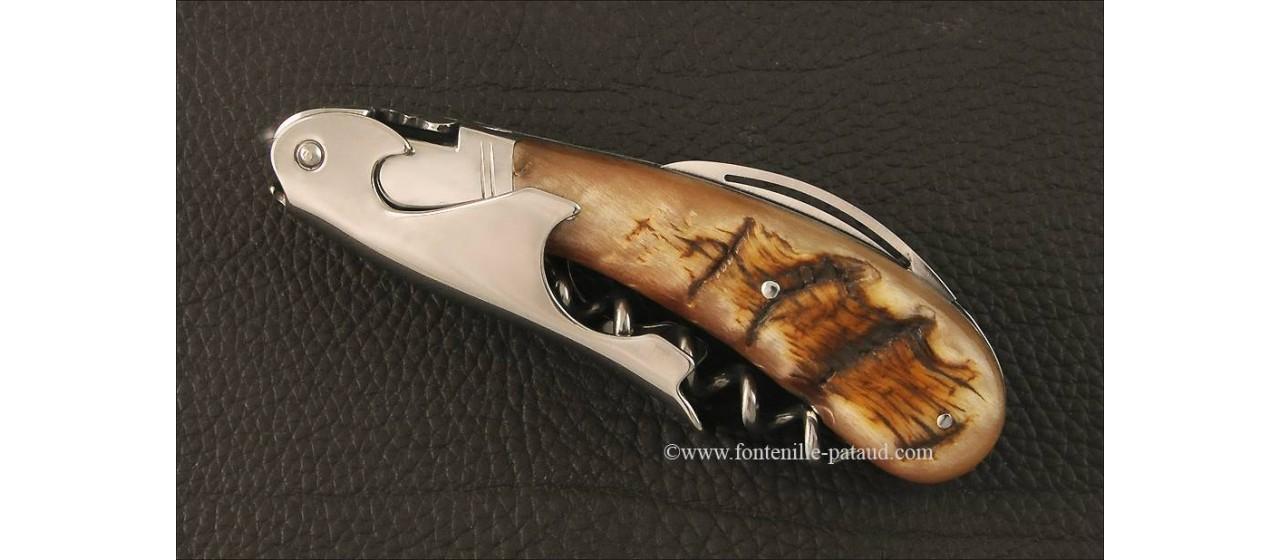 Laguiole Magnum corkscrew Ram horn tip