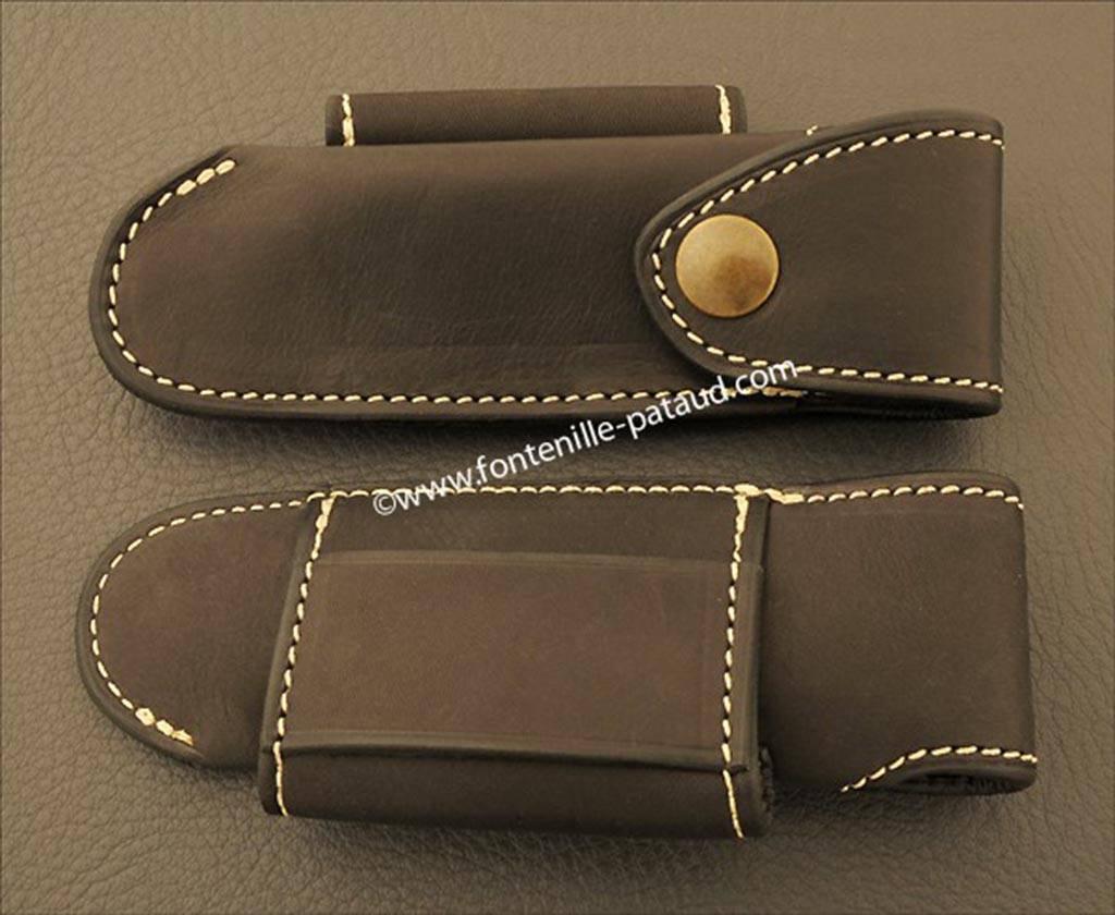 Leather belt sheath for Saint Bernard knife