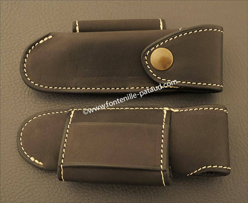 Leather belt sheath for Saint Bernard knife
