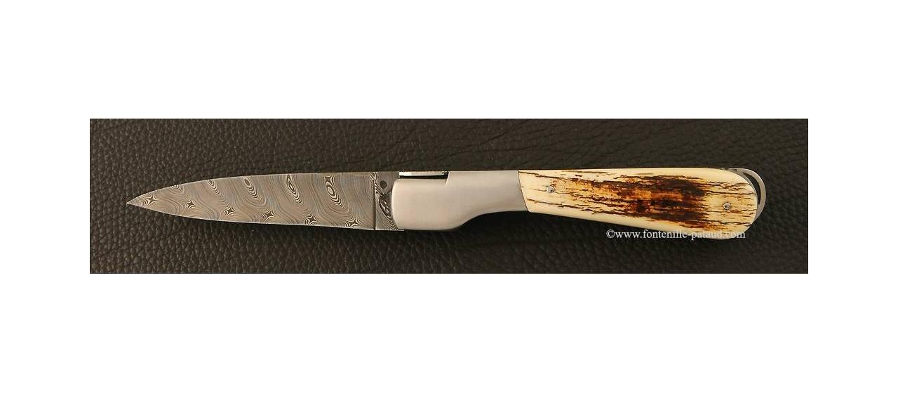 Couteau corse avec blocage de lame en ivoire de mammouth