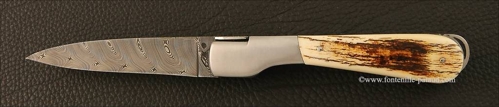 Corsican vendetta knife with lock-back system mammoth ivory