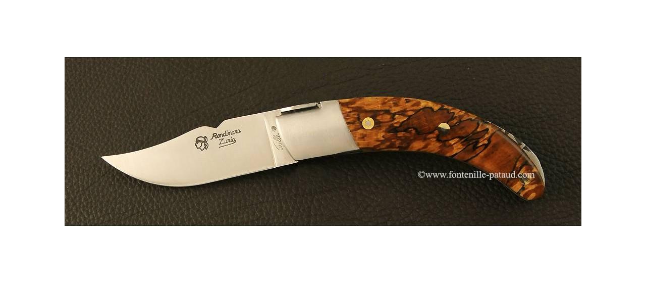 Couteau Corse le Rondinara Classique hêtre stabilisé debout