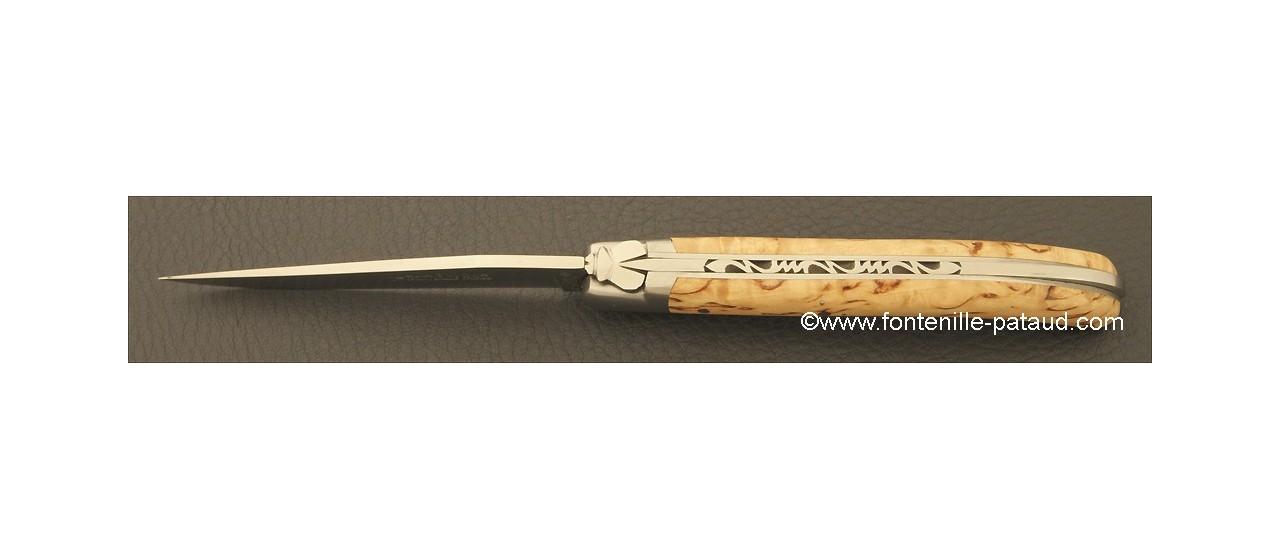 Laguiole Knife Le Pocket Classic Range Curly birch