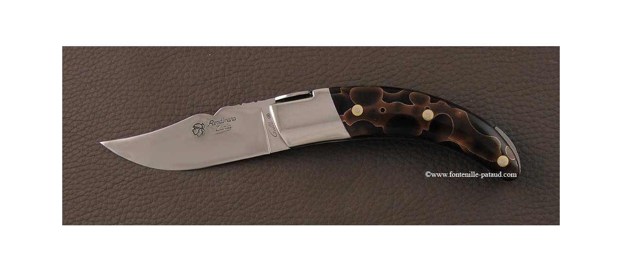 Couteau le Rondinara Guilloché Bronze