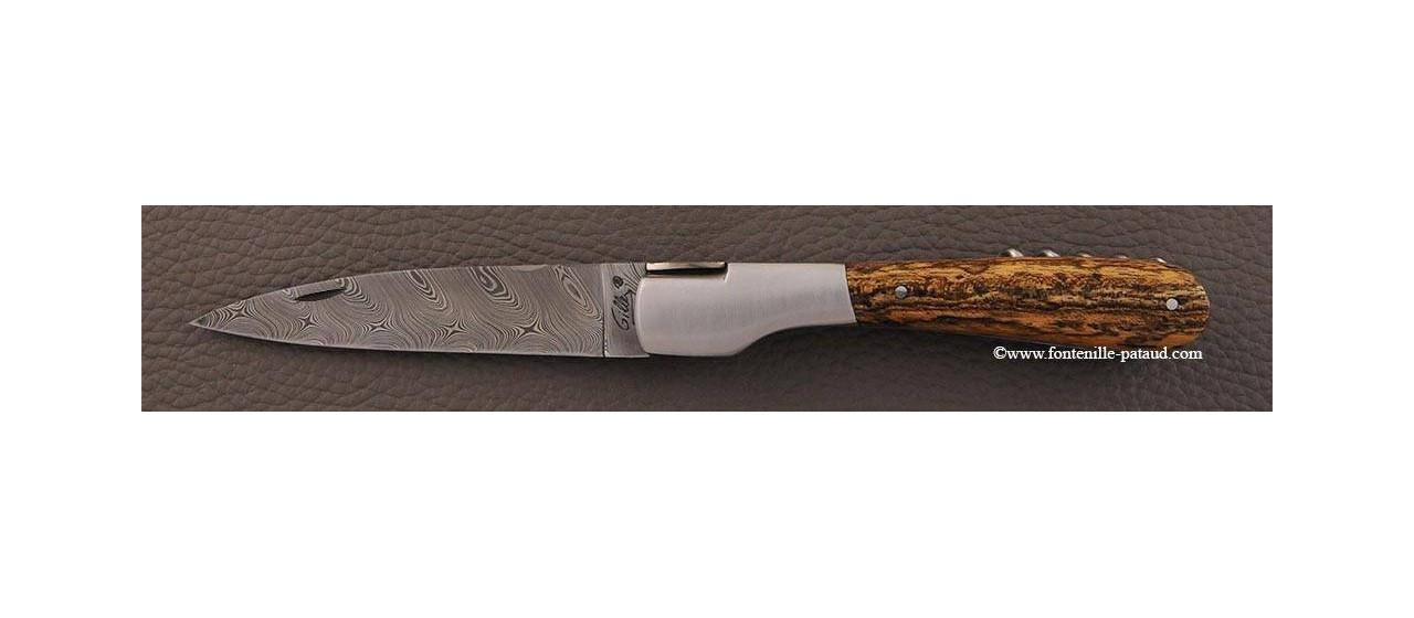 Couteau Vendetta Corse Damas avec tire-bouchon Bocote