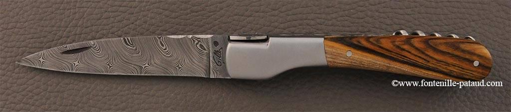 Couteau Vendetta Corse Damas avec tire-bouchon Pistachier