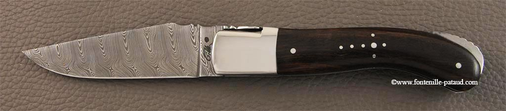 Laguiole Knife Sport Damascus Range Arizona ironwood
