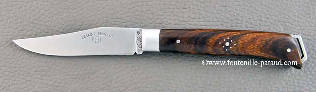 Couteau Alpin avec manche en bois de fer