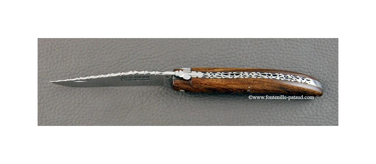 Laguiole knife full Arizona ironwood handle