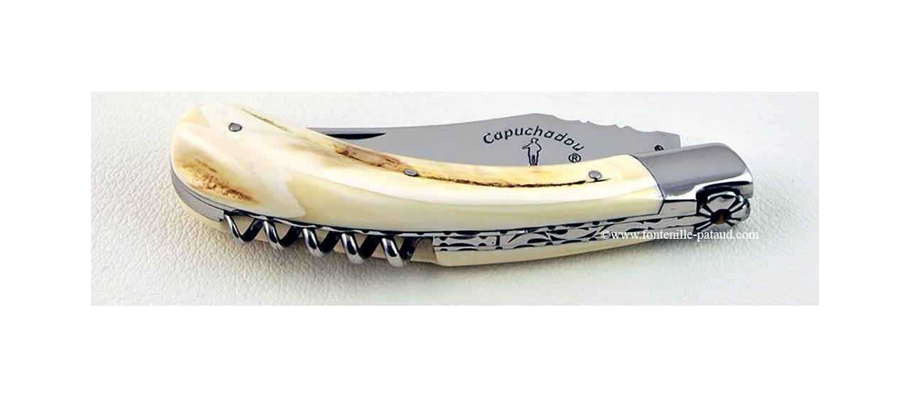 """""""Le Capuchadou Guilloché"""" 12 cm Corkscrew, warthog ivory"""